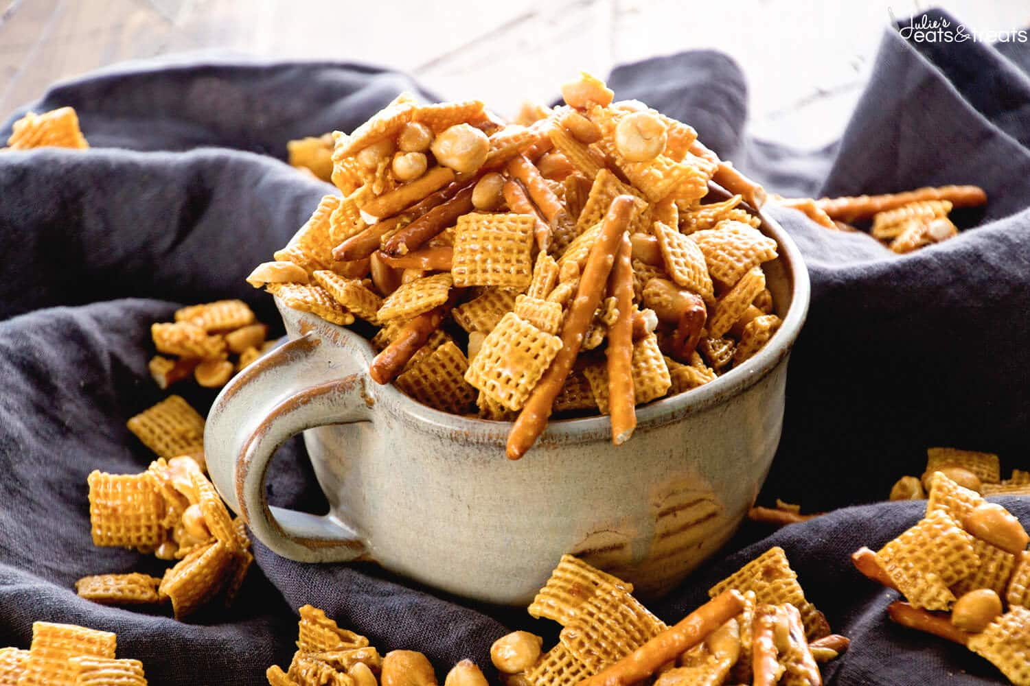 caramel chex mix julies eats treats - Christmas Crack Recipe Chex