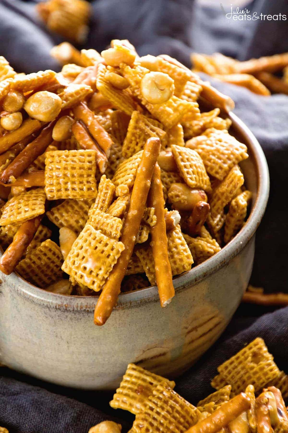 Caramel Chex Mix - Julie's Eats & Treats
