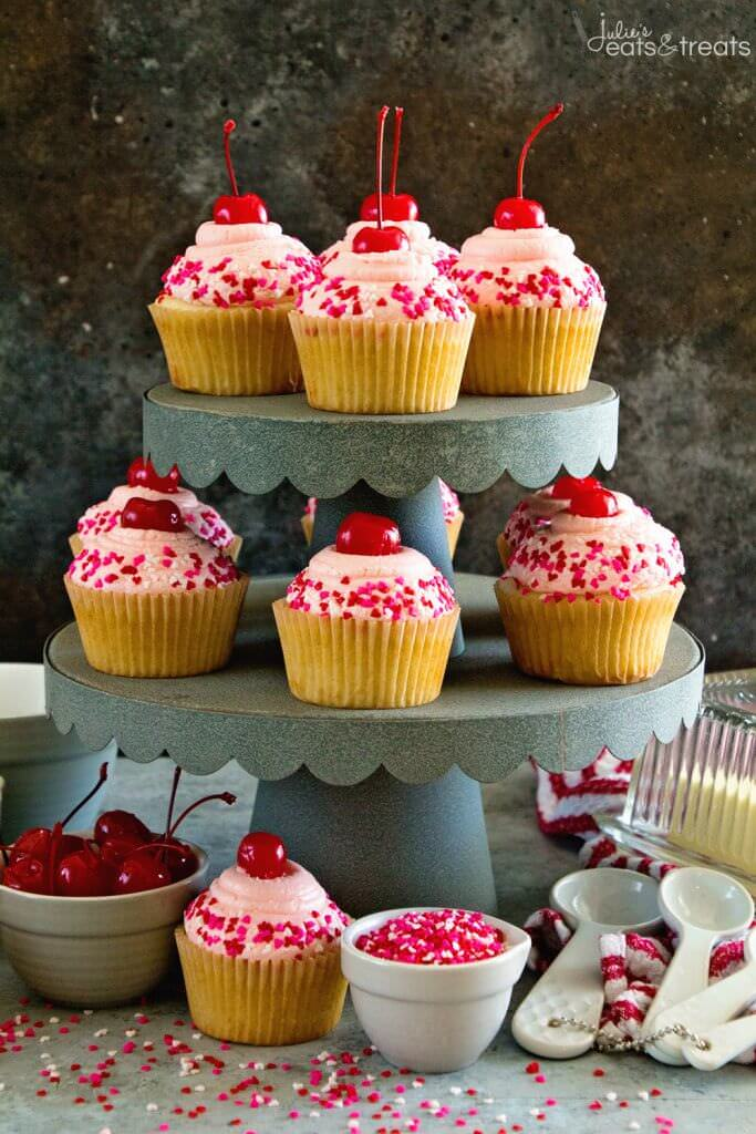 Cherry Almond Cupcakes + GIVEAWAY