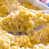 creamy-corn-macaroni-and-cheese-casserole-spoon