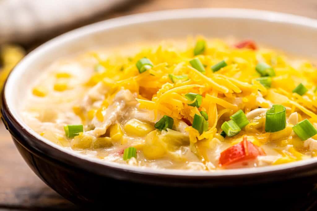 Bowl of Leftover Turkey Corn Chowder