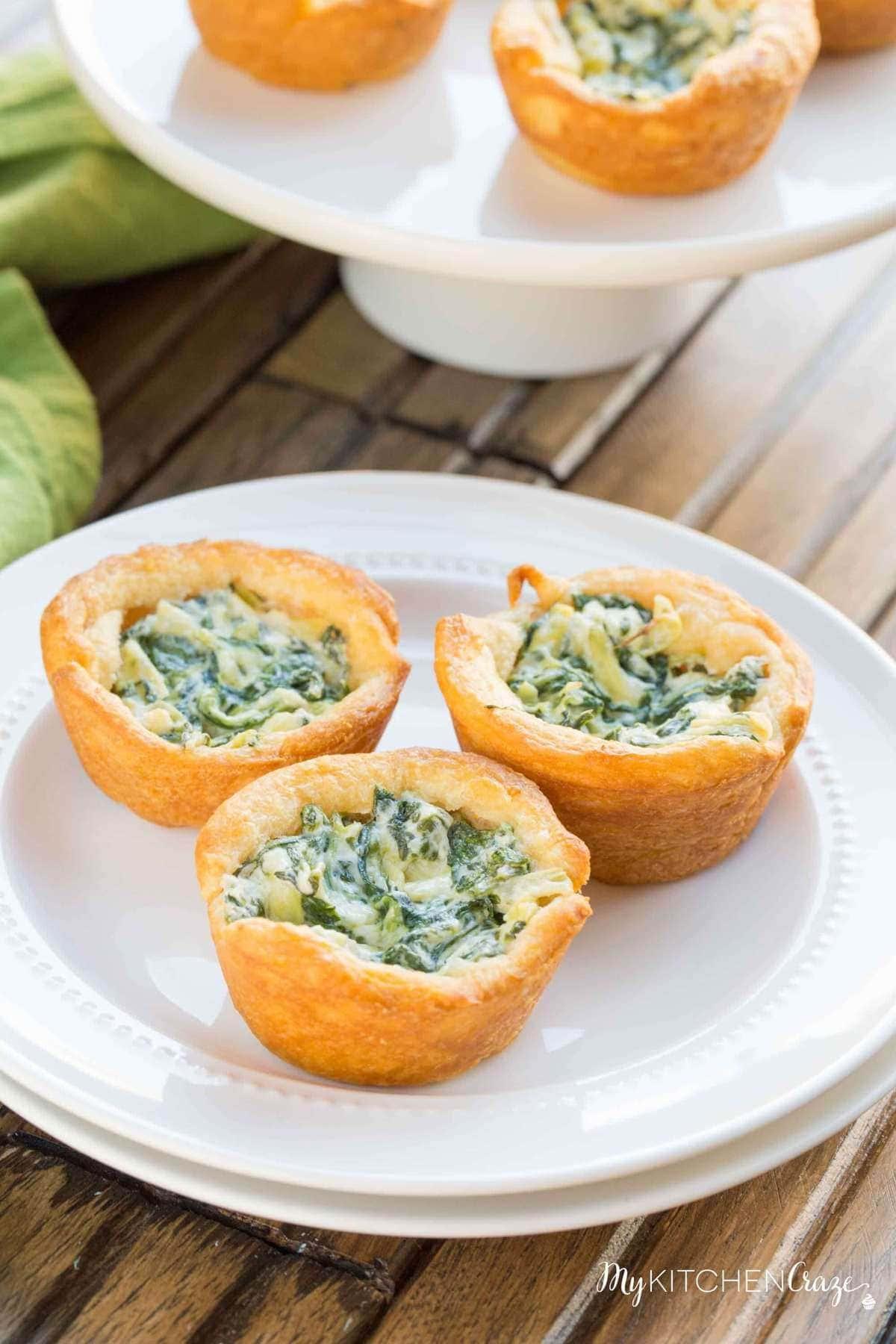 Spinach Artichoke Cups ~ mykitchencraze.com