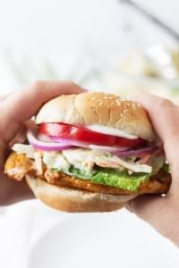 This is an easy recipe for a Grilled Buffalo Chicken Sandwich that would make a great lunch or a quick weeknight meal.
