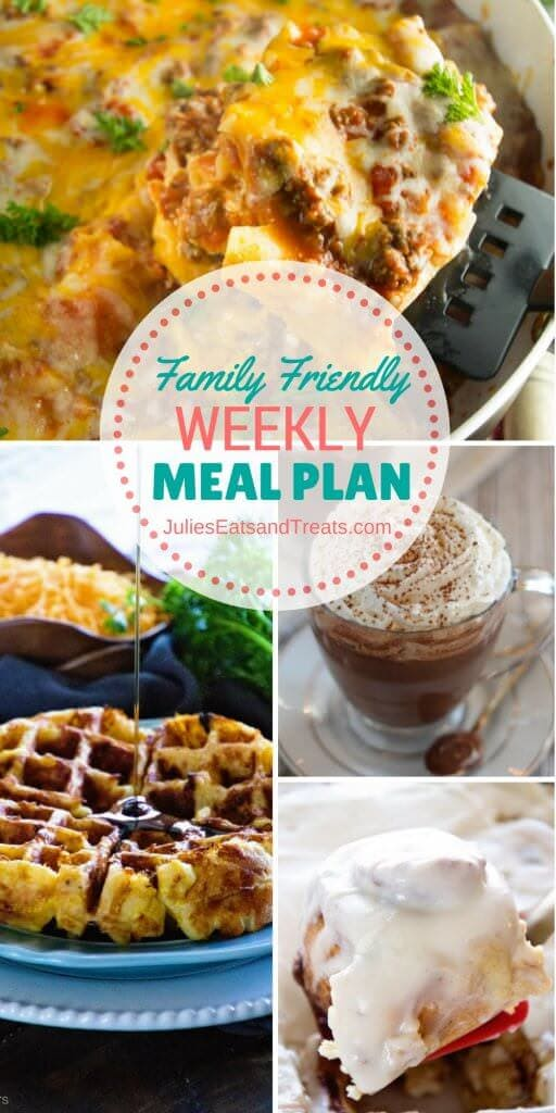 Family Friendly Meal Plan ~ Simple every day meals for the busy family! Simple, Easy & Delicious Recipes!