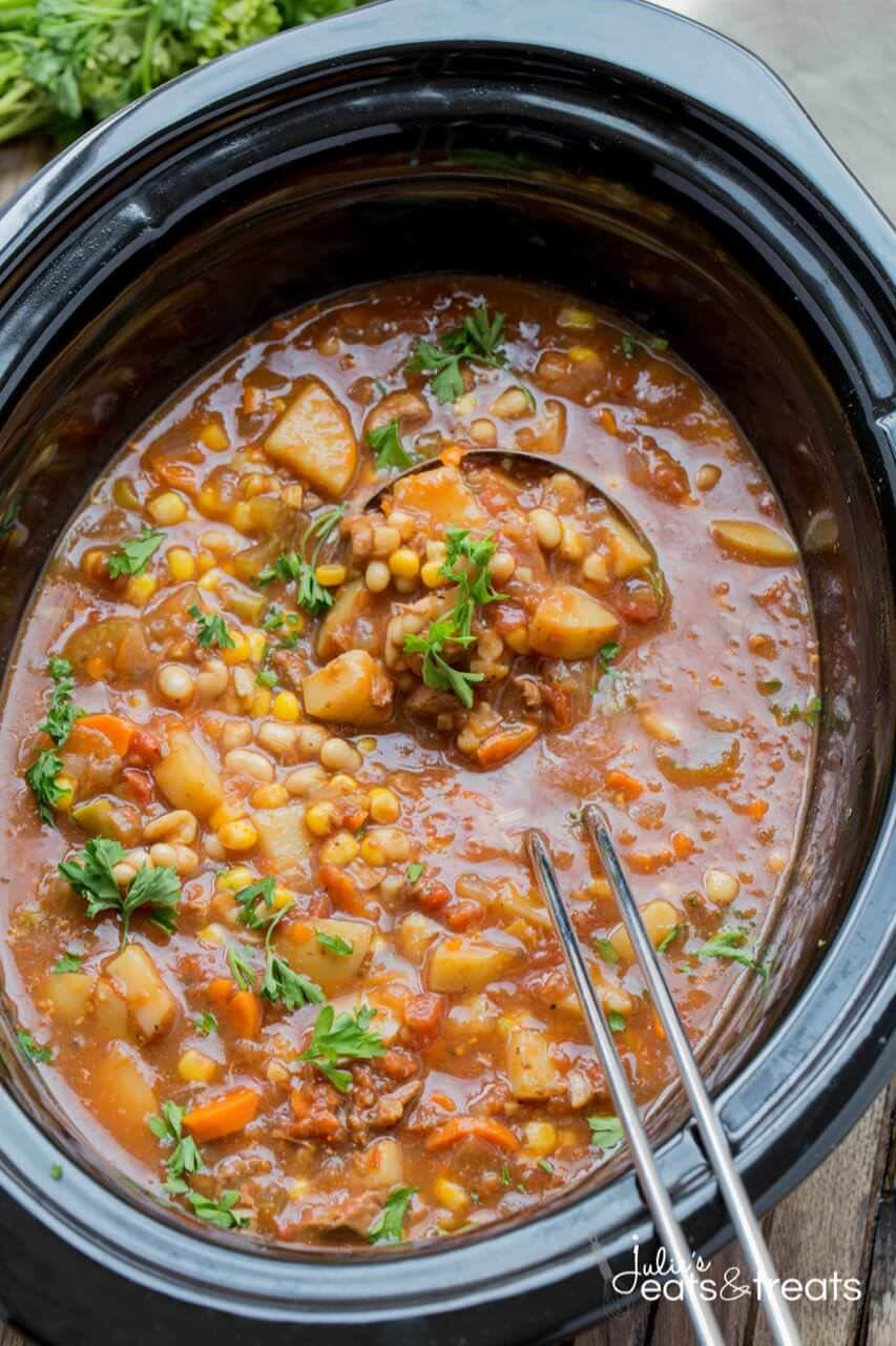 Crock Pot Beef And Vegetable Soup