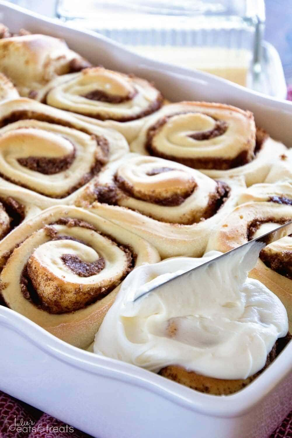 Sugar Cookie Easy Cinnamon Rolls ~ Soft, Fluffy Cinnamon Rolls Flavored with Sugar Cookie Coffee Creamer! These Will Be a Hit at your Breakfast Table!
