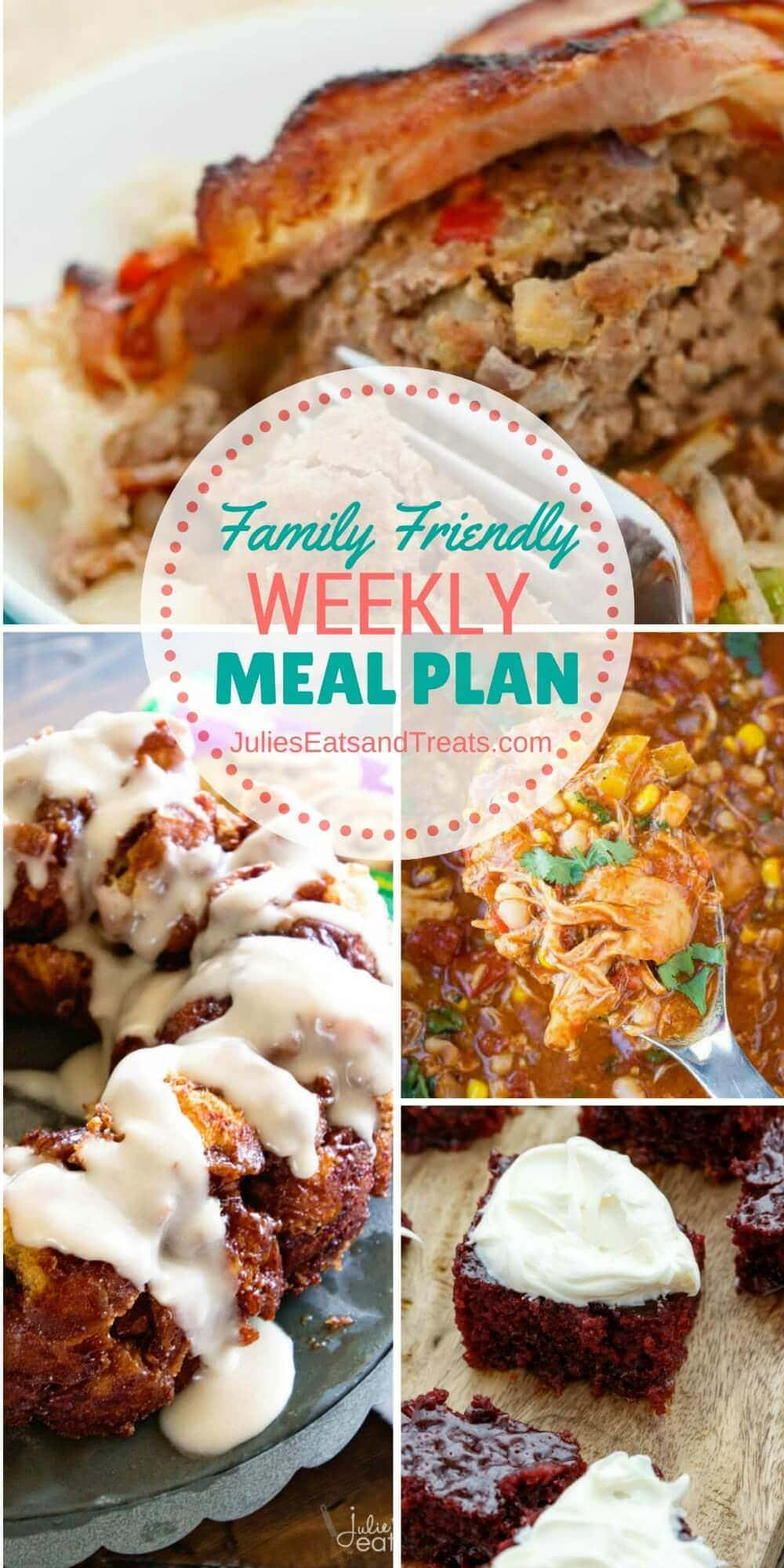Family Friendly Meal Plan ~ Simple every day meals for the busy family! Simple, Easy & Delicious Recipes! 12/1/16