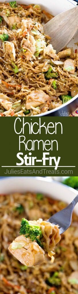Chicken Ramen Stir-Fry ~ Easy, Delicious Weeknight Meal Loaded with Healthy Ingredients with the Addition of Ramen for a Fun Twist! On the Table in 30 Minutes!