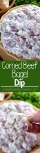 Corned Beef Bagel Dip ~ Quick and Easy Dip Perfect for Entertaining! Easy Appetizer to Serve When Hosting Your Next Party!