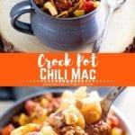 Crock pot chili mac pinterest image