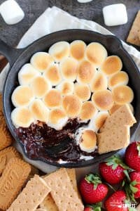 Easy Oven S'mores Dip from Celebrating Sweets