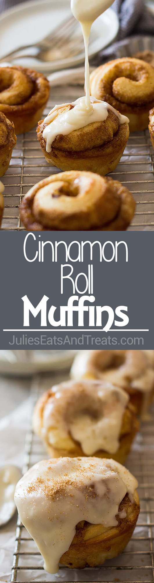 Cinnamon Roll Muffins ~ Light and fluffy, filled with cinnamon and sugar then drizzled with a vanilla icing! The Perfect Easy Breakfast Recipe!