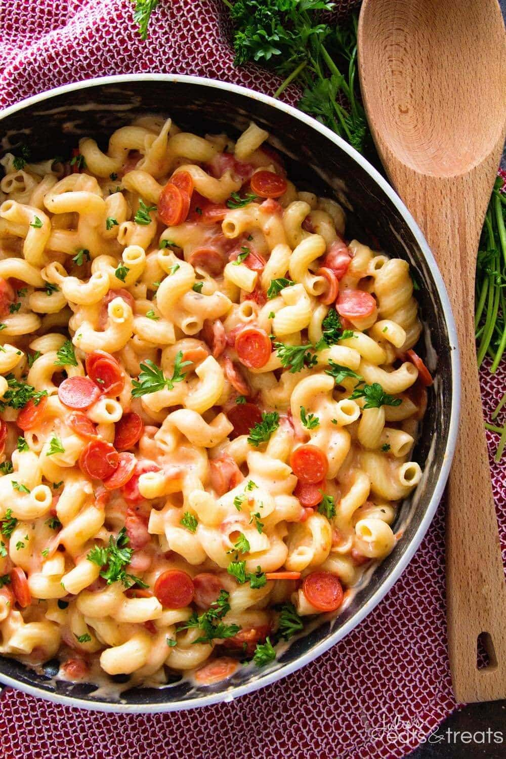 One Pot pasta in pan