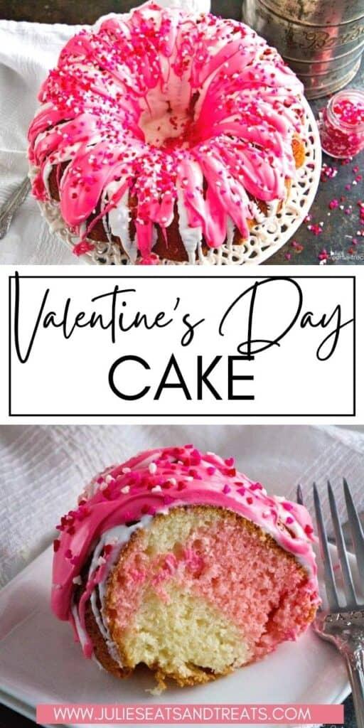 Valentine's Day Cake JET Pinterest Image