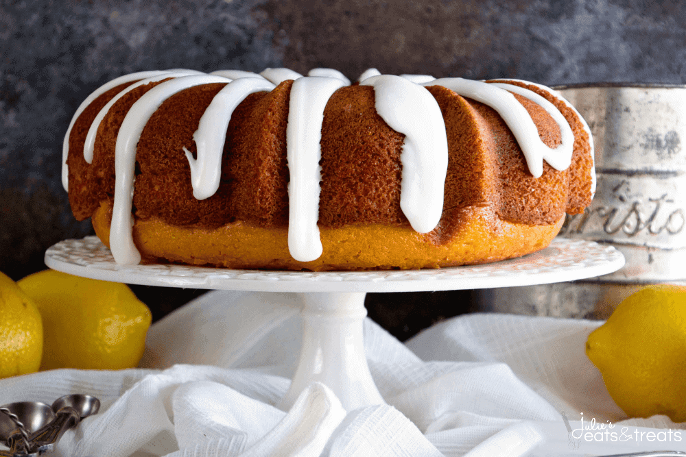 Lemon Bundt Cake with Lemon Frosting ~ Tender, Homemade Lemon Pound Cake with a Delicious Lemon Frosting!