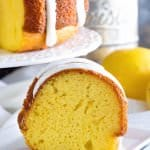 Lemon Bundt Cake with Lemon Frosting ~ Tender, Homemade Lemon Pound Cake with a Delicious Lemon Frosting!