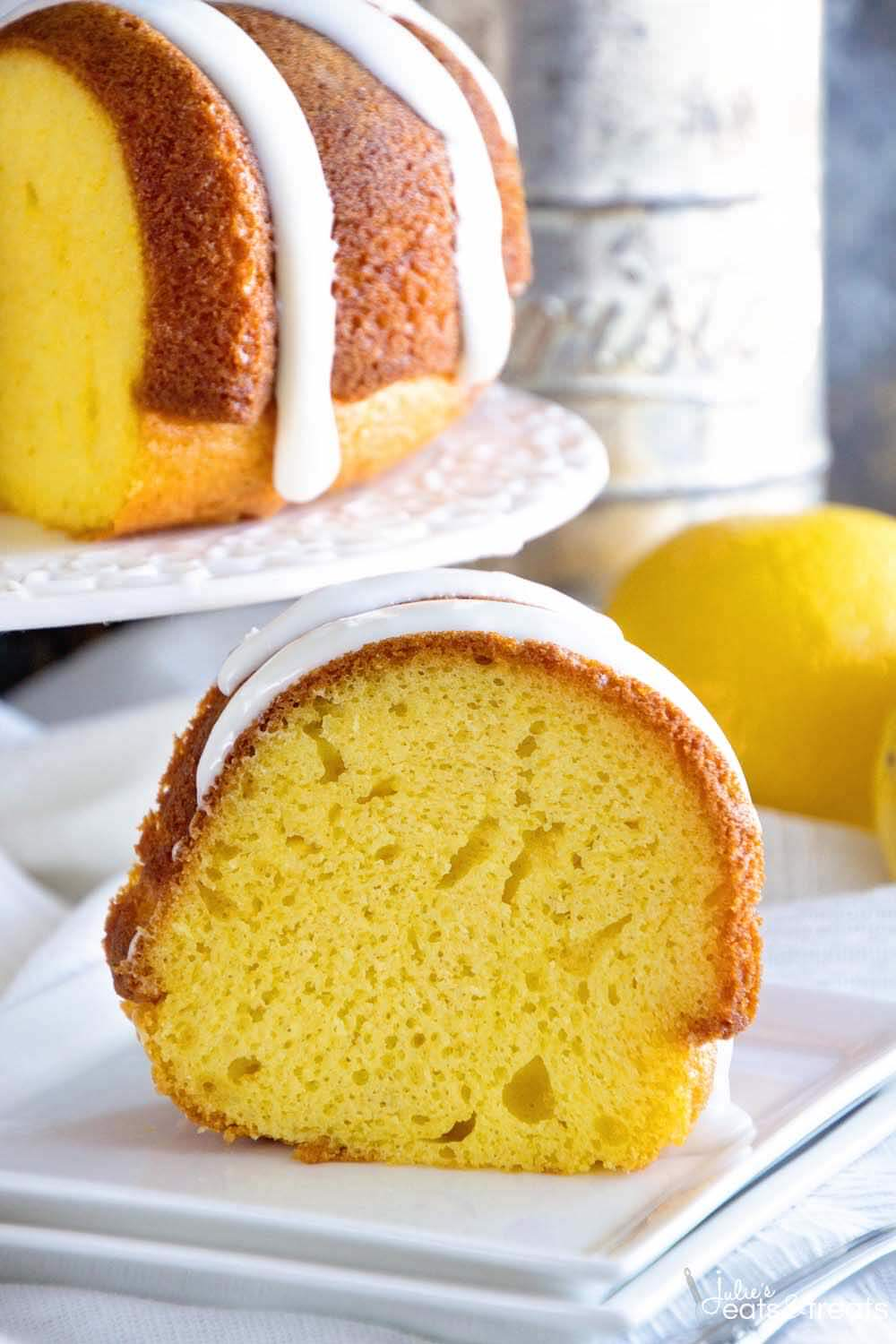 Lemon Bundt Cake With Lemon Frosting Julie S Eats Amp Treats