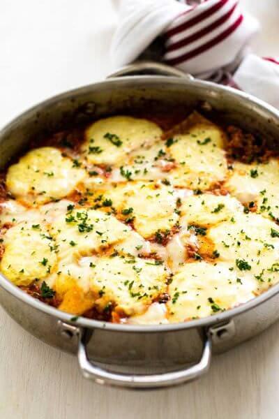 Skillet Chicken Lasagna