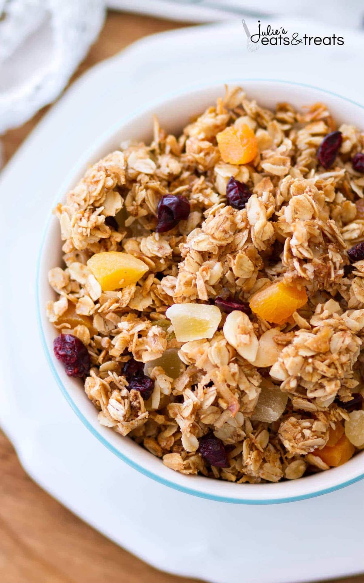 Homemade Tropical Coconut Granola - Julie's Eats & Treats