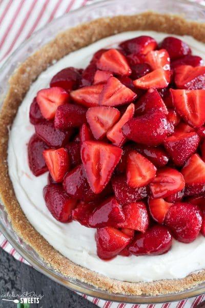 Strawberry Cream Cheese Pie - Celebrating Sweets