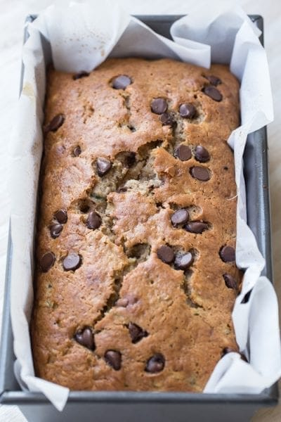ZUCCHINI CHOCOLATE BANANA BREAD