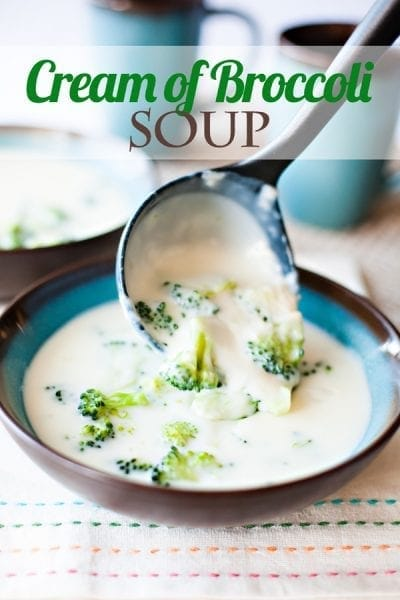 Get this recipe for Cream of Broccoli Soup by Ice Cream and Inspiration