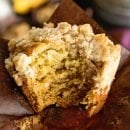 Banana Crumb Muffins ~ Delicious, Homemade Banana Muffins Loaded with a Amazing Crumb Topping! Perfect for an Breakfast!