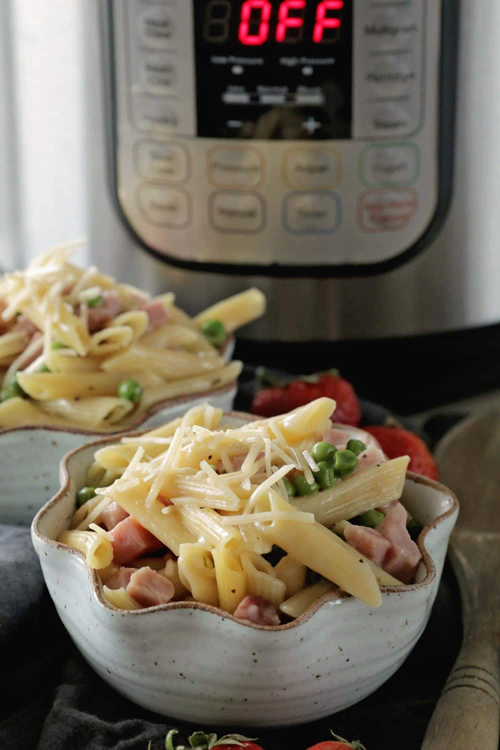 Instant pot pressure cooker ham penne pasta julies eats instant pot pressure cooker ham penne pasta our favorite meal now in forumfinder Images