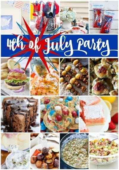 Ideas for 4th of July Party! ~ How to Plan Your Backyard 4th of July Party or Barbecue this Summer! Everything You Need from Recipes to Printables and Decor!