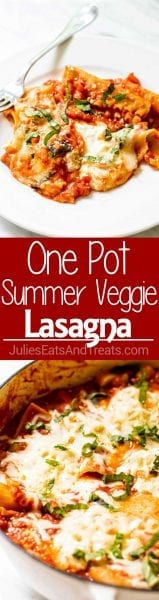 How to make One Pot Summer Vegetable Lasagna