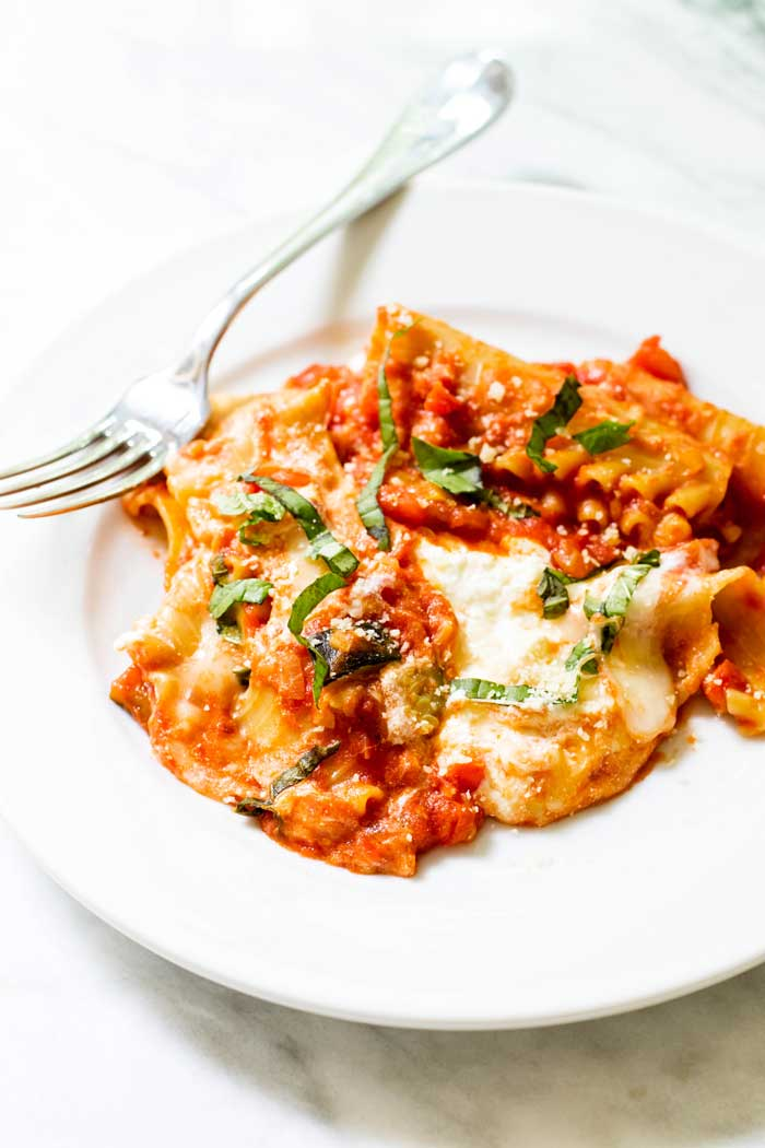 Summer Vegetable One Pan Lasagna
