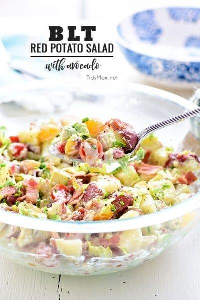 Homemade Bacon Lettuce and Tomato Red Potato Salad Recipe