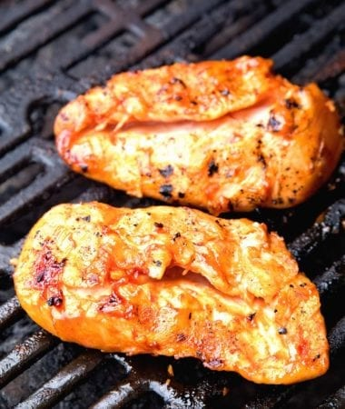 The BEST BBQ Chicken Marinade ~ This Quick and Easy Chicken Marinade Will Soon Be Your Favorite! The BBQ Marinade Produces So Much Flavor, is the Perfect Amount of Sweet and Tangy and Keeps Your Grilled Chicken Moist and Delicious!