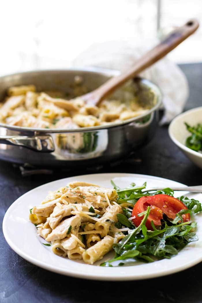 Creamy Pesto Chicken Pasta - Julie's Eats & Treats