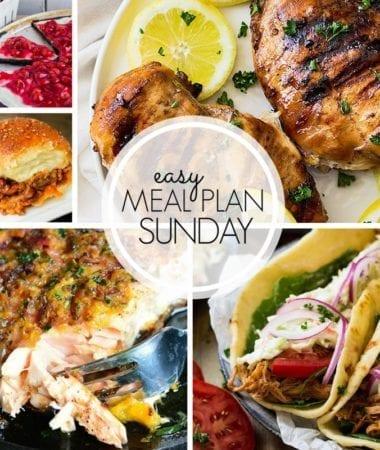 Easy Meal Plan Sunday {Week 105}