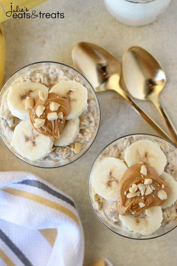 Overnight Oats with peanut butter and banana