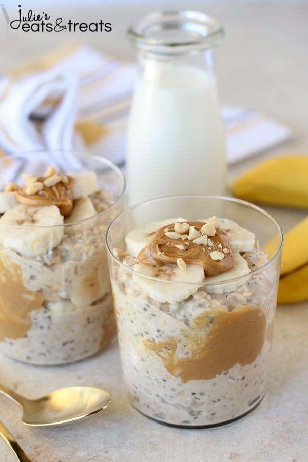 Weight Watchers Banana Peanut Butter Overnight Oats