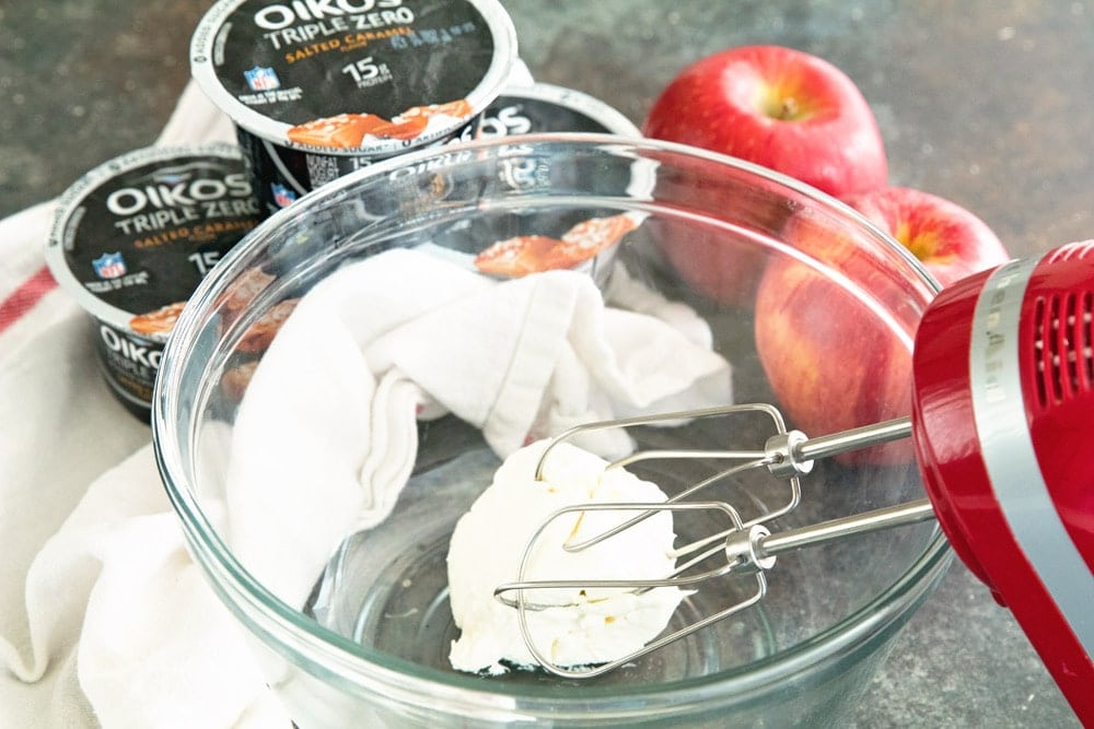 Salted Caramel Dip ~ Quick, Easy Dip Perfect for Apples, Pretzels and More! This Easy Fruit Dip is Easy Changed Up for Different Flavors!