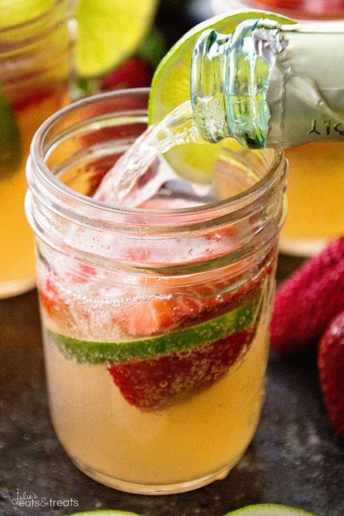 Strawberry Limeade Sangria