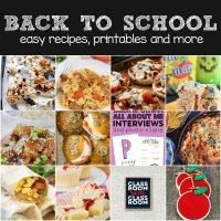 Back to School Menu Ideas! ~ Need easy back to school ideas? These Easy Recipes Will Help You Get Back Into the Swing of School! Plus a Fun Printable to Get Your Kids in the Mood! This Back To School Recipe Plan Will Make Back to School Easy