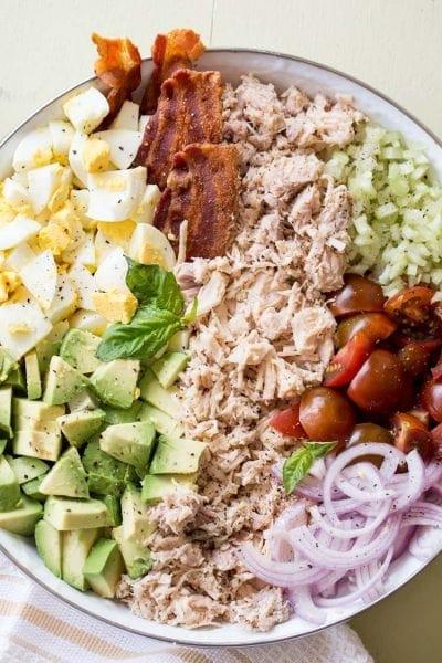 Chicken, avocado, egg and bacon salad recipe