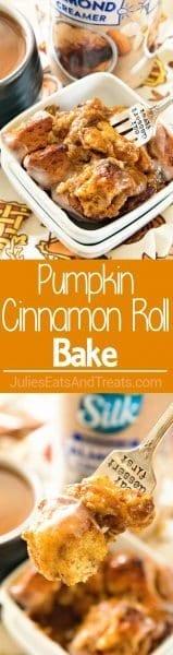 Perfect Pumpkin Cinnamon Roll Breakfast for Fall!