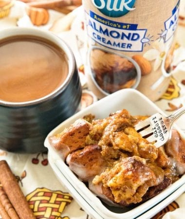 Perfectly Pumpkin Filled Cinnamon Roll Bake!