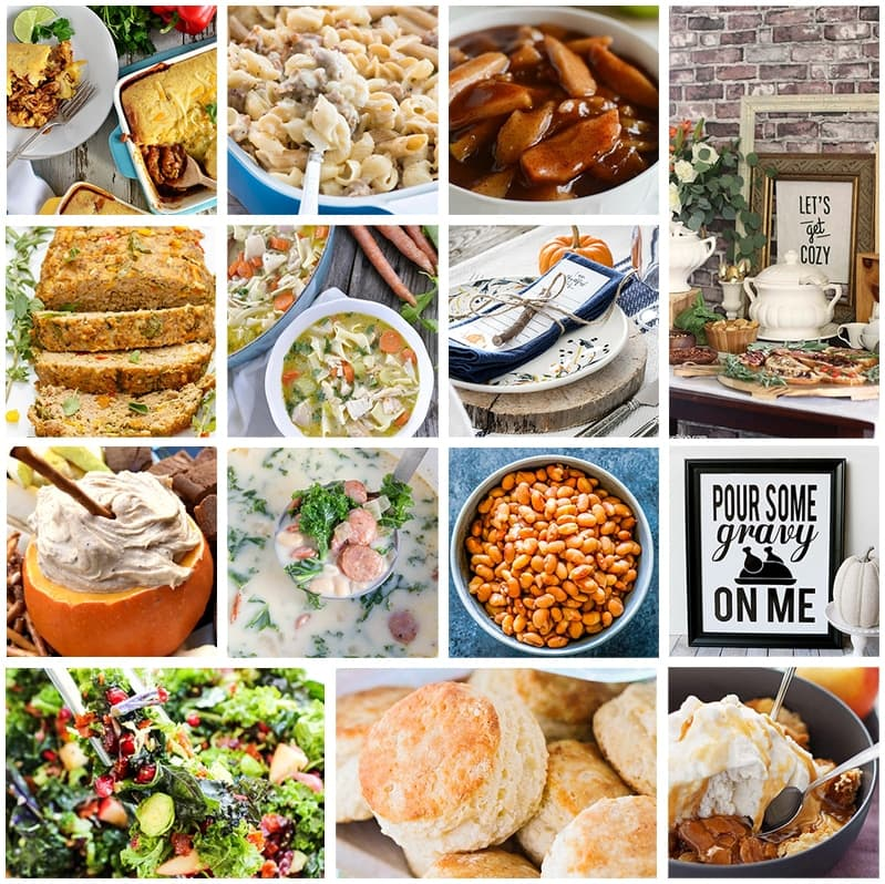Tons of delicious recipes for your favorite fall comfort foods!