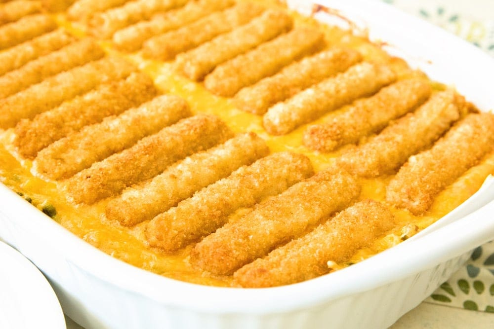 How to make cheesy fish stick hash brown casserole recipe!