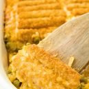 Cheesy Fish Stick Hash Brown Casserole ~ Your Favorite Hash Brown Casserole Topped with Crunch Fish Sticks to Make it a Main Dish Casserole!