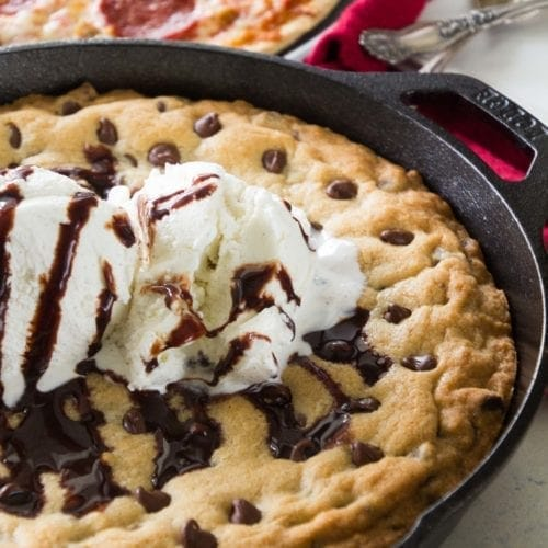 How to Make a Delicious Skillet Chocolate Chip Cookie!