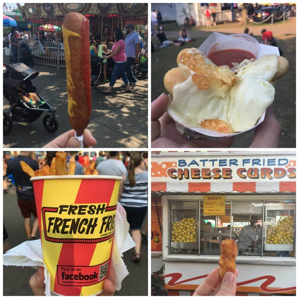 A collage of food from the Minnesota State Fair!