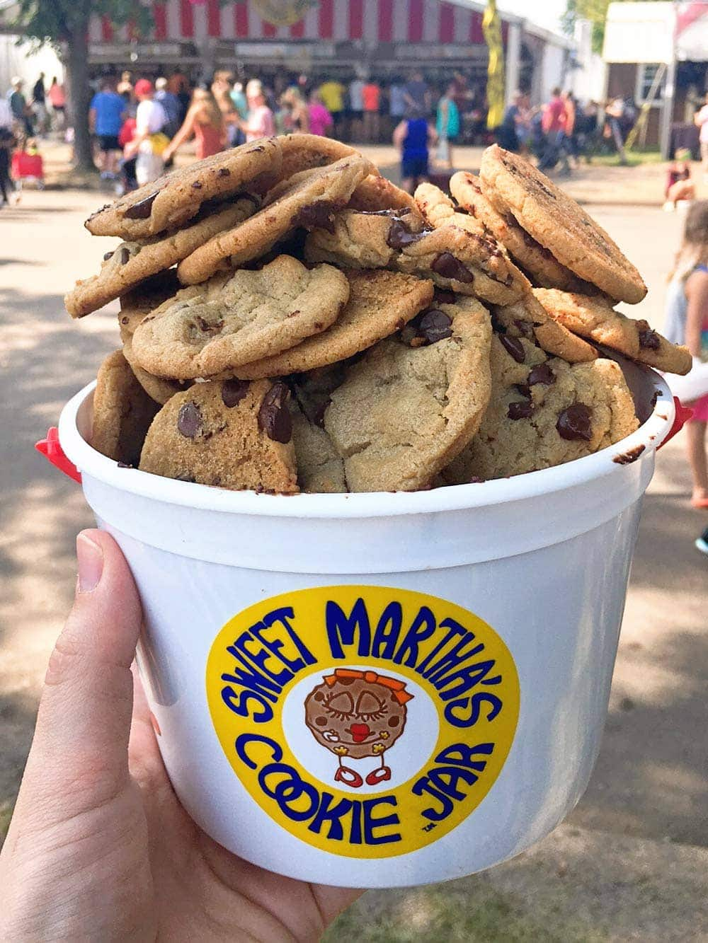A bucket of Chocolate Chip Cookies!