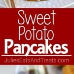 Sweet Potato Pancakes Recipe ~ Slightly sweet, delicately spiced, thick and fluffy Sweet Potato Pancakes. A hearty and comforting fall breakfast recipes!